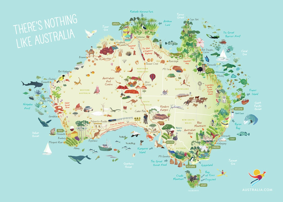 Map Of Northern Victoria Australia.The Best Australian Scenery